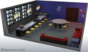 Стилизованная комната в Симс 4