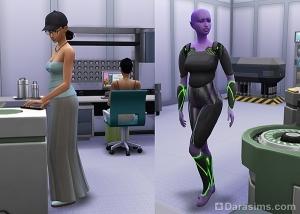 Пришельцы (туристы) в лаборатории ученых