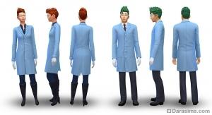 Рабочая одежда в карьере ученого в Симс 4