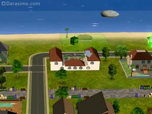 размещение участка (лота) на побережье в sims 2
