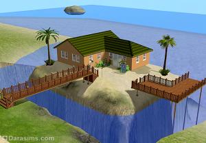 дом на острове в симс 2