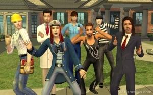 Работники разных профессий в игре Симс 2