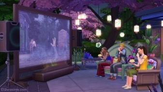 Большой экран на улице в The Sims 4 Домашний кинотеатр