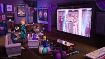 Домашний кинотеатр из каталога The Sims 4 Movie Hangout