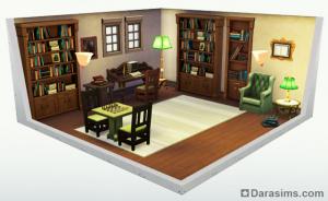 Стилизованная комната в Sims 4