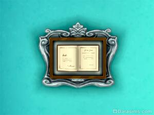 Открытая книга в рамке