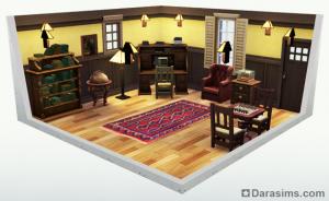 Стилизованная комната в The Sims 4