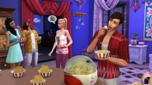 Приготовление попкорна в Симс 4