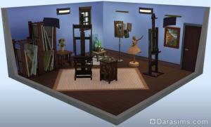 стилизованная комната: Креативное пространство