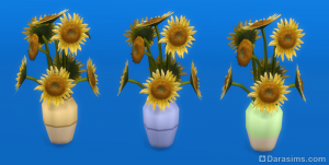 Деревенская ваза с подсолнухами