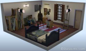 стилизованная комната: студия коллекционера