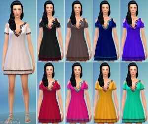 второй вариант короткого платья