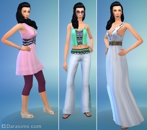 стилизованные образы для симок в the sims 4 movie hangout