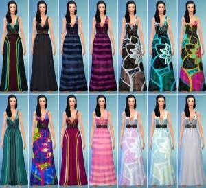 длинное платье в The Sims 4 Домашний кинотеатр