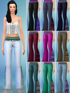 новый предмет одежды в CAS: джинсы клёш