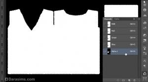 выделение деталей футболки