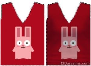 текстура с кроликом
