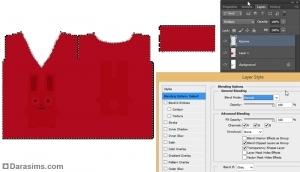 работа со слоями текстуры в photoshop