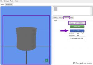 Импорт файла с мешем тени в Sims 4 Studio