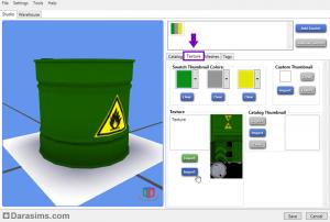 Импорт текстур объекта и редактирование иконок в S4S