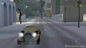 на зимней дороге
