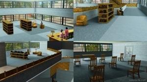 помещения в библиотеке Рорин Хайтса