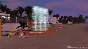 фонтаны на пляже