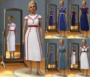 платье с «морским» дизайном
