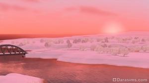 закат в зимнем Рорин Хайтс