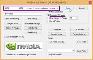 Сохранение текстуры DDS в Фотошопе