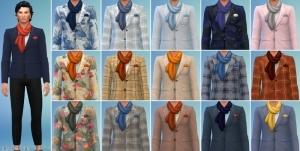 Мужской пиджак с шарфом из каталога Симс 4 Романтический сад
