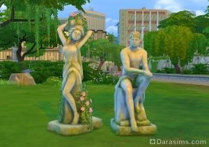 Скульптуры из каталога для романтического сада