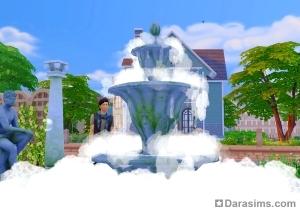 Сим насыпал мыльный порошок в фонтан