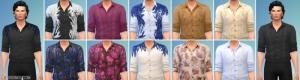 Мужская рубашка в разных расцветках