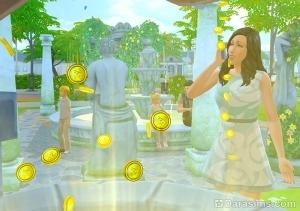 Симка пожелала денег у колодца, и посыпались симолеоны