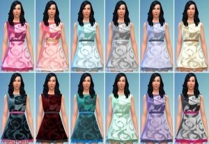 Платье с узором для женщин