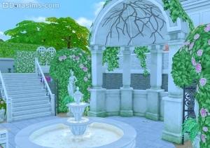 Сад с фонтаном в Симс 4