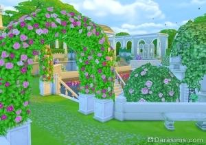 Цветочная арка в романтическом саду