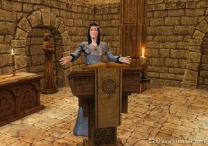 Проповедь петерианского священника в средневековом квесте
