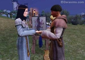 Дарение подарка в The Sims Medieval