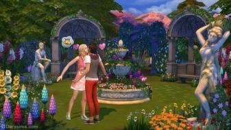 Поцелуй в цветах из каталога «Симс 4 Романтический сад»