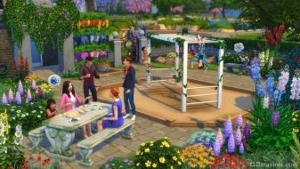 Семейный отдых с детьми в парке из «Симс 4 Романтический сад»