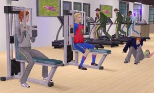 спортзал в симс 2 университет