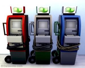 Украденный банкомат - награда из карьеры преступника в Симс 4