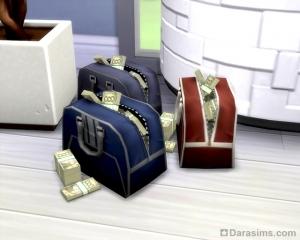Мешок денег - награда в преступной карьере в The Sims 4