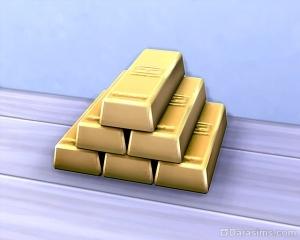 Золотые слитки за достижение в преступной карьере