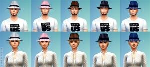 Полосатые шляпы в CAS из карьеры преступника в Симс 4