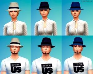 Шляпы в CAS из карьеры преступника в Симс 4