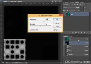 Осветление текстуры в Фотошоп