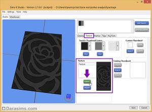 экспорт текстуры в sims 4 studio